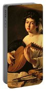 The Lute Player Portable Battery Charger by Michelangelo Merisi da Caravaggio