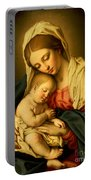 The Madonna And Child Portable Battery Charger by Il Sassoferrato