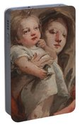 The Madonna And Child With A Goldfinch Portable Battery Charger