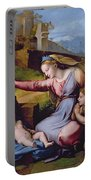 The Madonna Of The Veil Portable Battery Charger