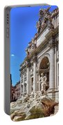The Majesty Of The Trevi Fountain In Rome Portable Battery Charger