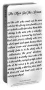 The Man In The Arena By Theodore Roosevelt Portable Battery Charger