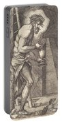 The Man Of Sorrows At The Foot Of The Cross Portable Battery Charger