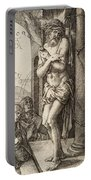 The Man Of Sorrows By The Column With The Virgin And St. John  Portable Battery Charger