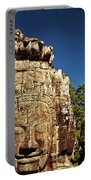 The Many Faces Of Bayon Temple, Angkor Thom, Angkor Wat Temple Complex, Cambodia Portable Battery Charger