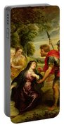 The Meeting Of David And Abigail Portable Battery Charger