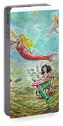 The Mermaids Of Weeki Wachee State Park Portable Battery Charger