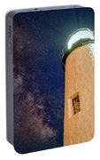 The Milky Way Over Pemaquid Point Portable Battery Charger