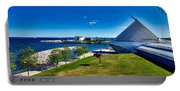 The Milwaukee Art Museum On Lake Michigan Portable Battery Charger