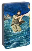 The Miracles Of Jesus Walking On Water  Portable Battery Charger