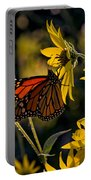 The Monarch And The Sunflower Portable Battery Charger
