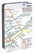 The Montreal Pubway Map Portable Battery Charger