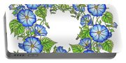 The Morning Glory Circle Watercolor Portable Battery Charger