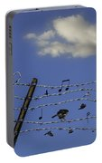 The Musical Barbed Wire Birds Portable Battery Charger