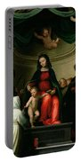 The Mystic Marriage Of St Catherine Of Siena With Saints Portable Battery Charger