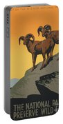 The National Parks Preserve Wild Life Vintage Travel Poster Portable Battery Charger