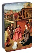 The Nativity By Gerard David  Portable Battery Charger