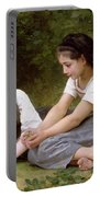 The Nut Gatherers Portable Battery Charger by William-Adolphe Bouguereau