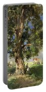 The Old Ash Tree Portable Battery Charger by Edward Arthur Walton