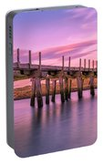 The Old Bridge At Sunset Portable Battery Charger