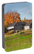 The Old Farm In Autumn Portable Battery Charger