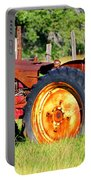 The Old Tractor In The Field Portable Battery Charger
