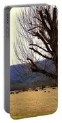 The Old Tree In Winter Portable Battery Charger