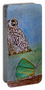 The Owl And The Butterfly Portable Battery Charger