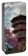 The Pagoda In Spring Portable Battery Charger