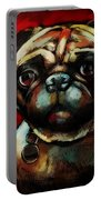 The Painted Pug Portable Battery Charger