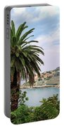 The Palm Is Always Associated With Summer, Sea, Travelling To Warm Countries And Rest Portable Battery Charger