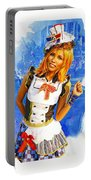 The Patriotic Fashion Girl Portable Battery Charger