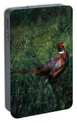 The Pheasant In The Autumn Colors Portable Battery Charger