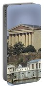 The Philly Art Museum And Waterworks Portable Battery Charger