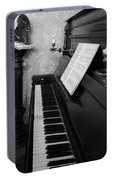 The Piano - Black And White Portable Battery Charger