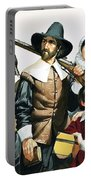The Pilgrim Fathers Arrive In America Portable Battery Charger