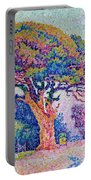 The Pine Tree At Saint Tropez Portable Battery Charger