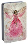 The Pink Angel  Portable Battery Charger
