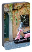 The Pink Vespa Portable Battery Charger