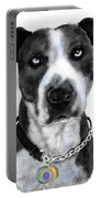 The Pooch With Blue Eyes Portable Battery Charger