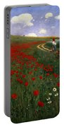 The Poppy Field Portable Battery Charger