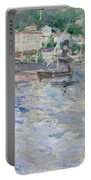 The Port At Nice Portable Battery Charger by Berthe Morisot