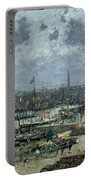 The Port Of Bordeaux Portable Battery Charger by Eugene Louis Boudin