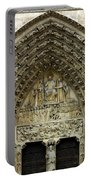 The Portal Of The Last Judgement Of Notre Dame De Paris Portable Battery Charger by Fabrizio Troiani