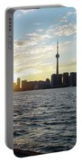 The Precision Of Sunset In The Harbour Portable Battery Charger
