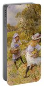 The Primrose Gatherers Portable Battery Charger