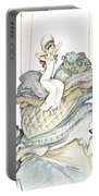 The Princess And The Pea, Illustration For Classic Fairy Tale Portable Battery Charger