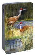 The Protector - Sandhill Cranes Portable Battery Charger