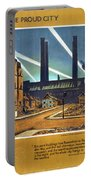 The Proud City - London Underground, London Metro - Retro Travel Poster - Vintage Poster Portable Battery Charger