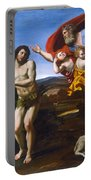 The Rebuke Of Adam And Eve Portable Battery Charger